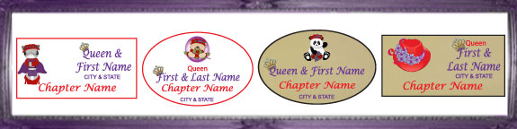 Samples Of Queen Name Badges