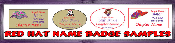 Red Hat Name Badge Sample images
