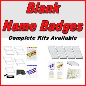 Blank Name Badges
