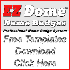 EZ Dome Name Badge Free Template Downloads