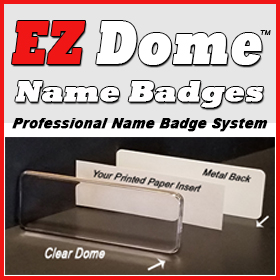 EZ Dome Reusable Name Badges
