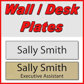 Wall and Desk Plates