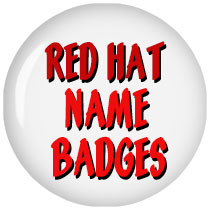 Red Hat Name Badges