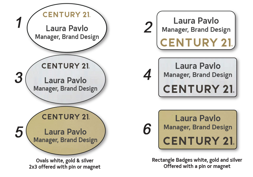 Century21 Name Badges / Name Tags
