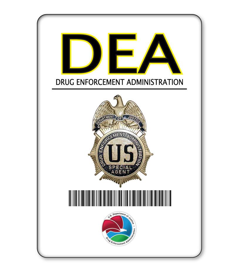 dea badge halloween costume accessory