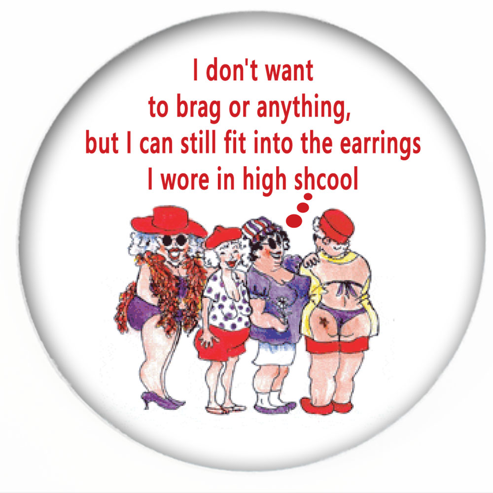 Red Hat Button 471 Don T Mean To Brag