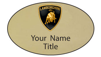 Lamborghini Name Badges Name Tags For Employees And Sales Agents
