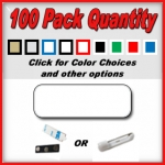 100 Pack Blank Name Badges