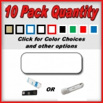 10 Pack Blank Name Badges