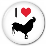 I (Heart) (Rooster pictured)