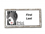 Black and Bling Blinged Up Name Badge
