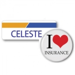 Celeste from Progressive Badge and Button