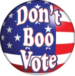 Don't Boo Vote campaign button