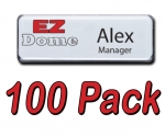 EZ Dome 100pk Reusable Name tag / Badge Kit