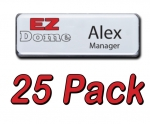 EZ Dome 25pk Reusable Name tag / Badge Kit
