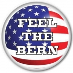 "Bernie Sanders ""Feel The Bern"" campaign button"