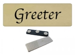 Greeter - Church name tag 10 pk