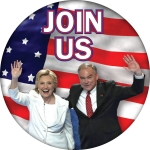 Hillary / Kaine Join Us campaign button