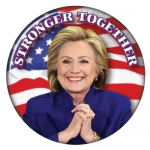 Hillary Stronger Together campaign button