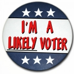 I'm A Likely Voter Pin-back button