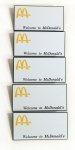 McDonalds Hot Stamped Name Badge Blanks 5pk