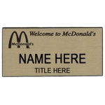 Gold McDonald's Name Badge