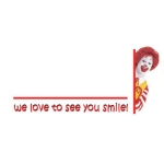 McDonalds Logo Only Name Badge with Ronald Artwork Sample