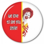McDonalds Love to see you smile Button