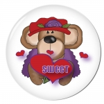 Red HAT Button 508 Valentine