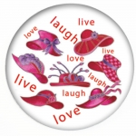 Red HAT Button 326 Live Love Laugh