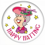 Red Hat Button 393 Happy Hatting