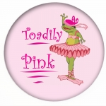 Red HAT Button 409 Toadily Pink