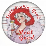Still Lookin' Good - Real Good!  Red Hat Button Image