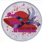 Red Hat Button 457 Red, Wild, Wonderful