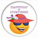 Red Hat Button captioned Hattitude is EVERYTHING!