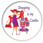 Red Hat Button 461 Shopping is my Cardio