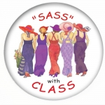 Sass with Class Red Hat Button