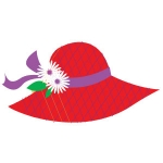 Red Hat with Purple Ribbon artwork 109