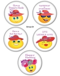 Red HAT Button Set Group 24