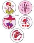 Red HAT Button Set Group 6