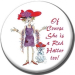 Red Hat Button 458 Of Course She is a Red Hatter too!