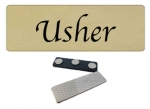 Usher- Church name tag 10 pk
