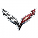 Chevrolet Corvette Logo Name Badge